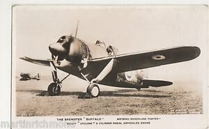 The Brewster Buffalo Midwing Monoplane Fighter RP Postcard B550 - Borth, United Kingdom - The Brewster Buffalo Midwing Monoplane Fighter RP Postcard B550 - Borth, United Kingdom