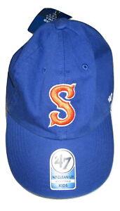 Syracuse-Orangemen-Fitted-47-Brand-Hat-youth-kids-boys-Cap-New-adjustable-Blue
