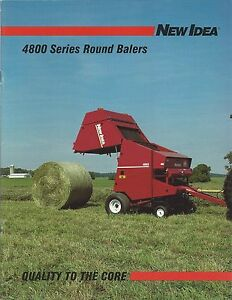 Farm Equipment Brochure - New Idea - 4844 4845 4865 Round Balers - 1993 (F4584)