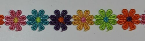 12 PZ 24 PZ Guipure Daisy motivi Sew sul fiore Applique Patch