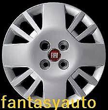 """Fiat Fiorino Qubo Set 4 Borchie Coppe Ruota Copricerchi 14/"""" Logo Rosso 1240"""