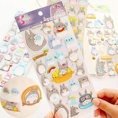3D Studio Ghibli Totoro Sticker Scrapbook Diary Book Decoration Label Collection