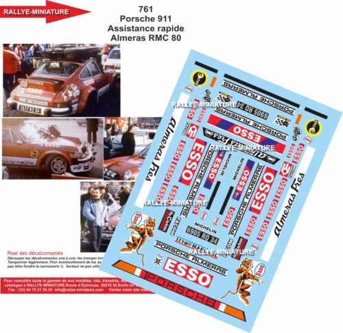 DECALS 1//43 REF 761 PORSCHE 911 ASSISTANCE ALMERAS RALLYE MONTE CARLO 1980 RALLY