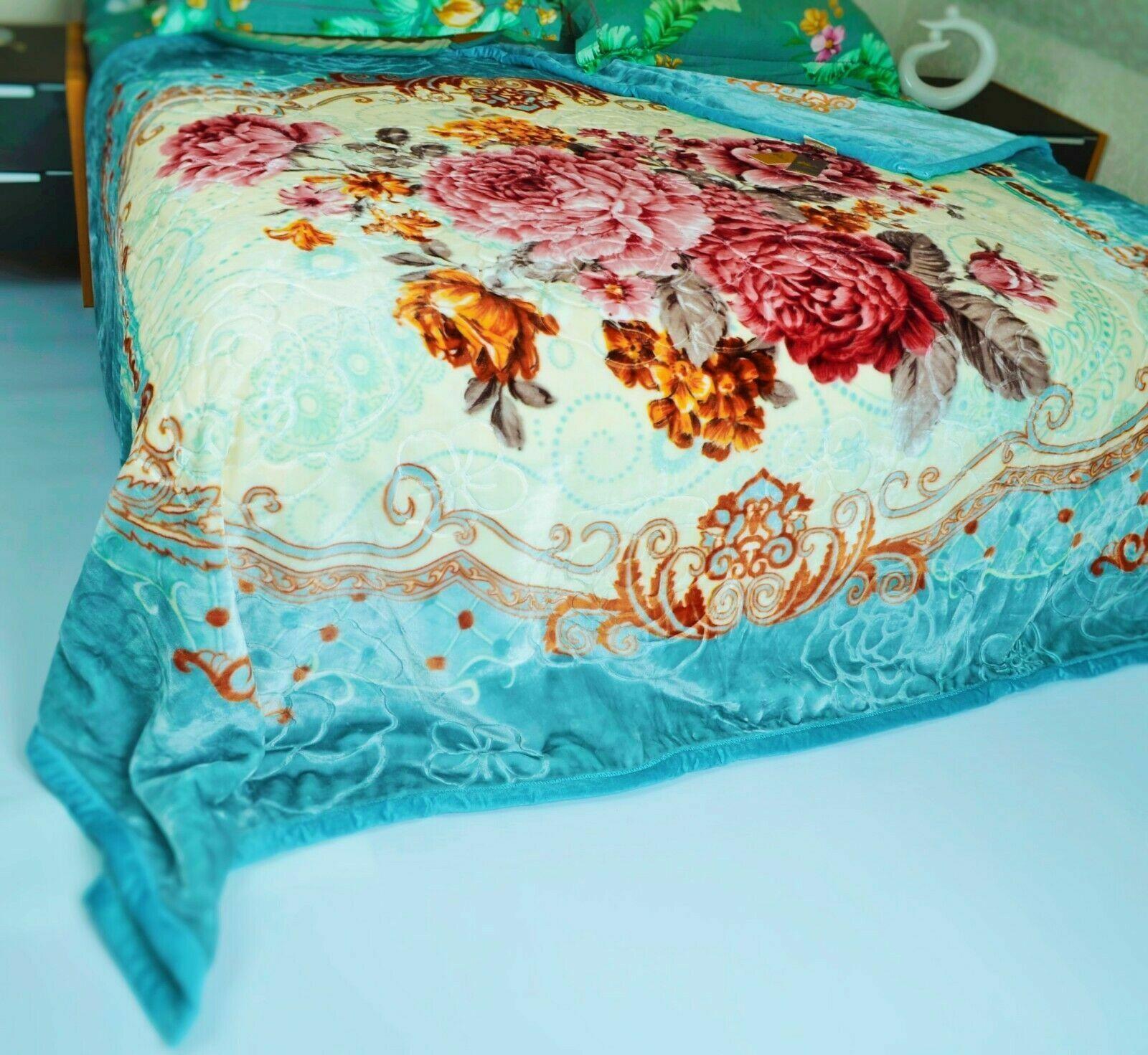 Kuscheldecke 200 x 230 cm Zweilagige Doppelseitige Decke 2 Ply , 3 kg
