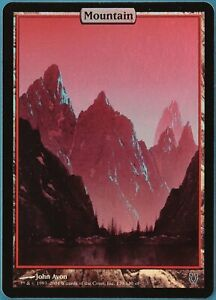 Mountain FOIL Unhinged NM Extended / Full Art Textless CARD (139802) ABUGames