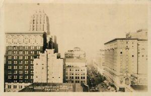 Birdseye-1924-SEATTLE-WASHINGTON-Looking-North-4th-Avenue-RPPC-postcard-4124