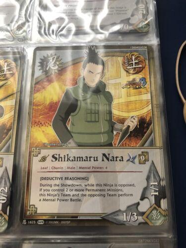 Naruto Cards CCG TCG Shikamaru Nara 1625 COMMON COMBINE SHIPPING