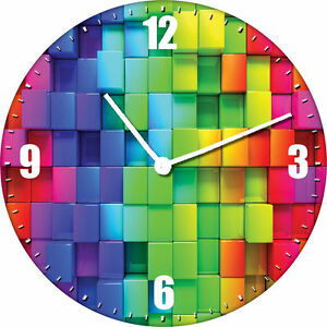 Orologio da parete multicolor legno complementi di arredo for Complementi di arredo cucina