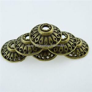 12760-45PCS-Vintage-Antique-Bronze-Tone-Alloy-14mm-Spacer-Bead-End-Beads-Caps