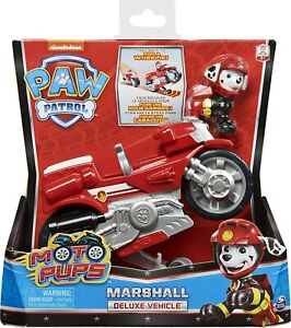 Paw Patrol 6061224 Moto Pups Marshall'S Deluxe Pull Back Motorcycle