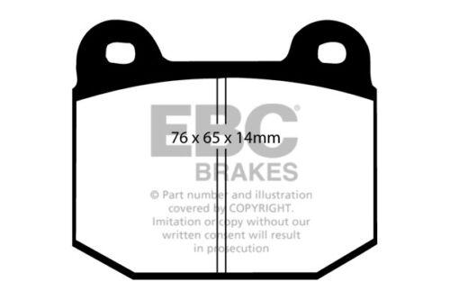EBC Yellowstuff Rear Brake Pads for Subaru Impreza 2.0T WRX STi 100 pcd 02 /> 05