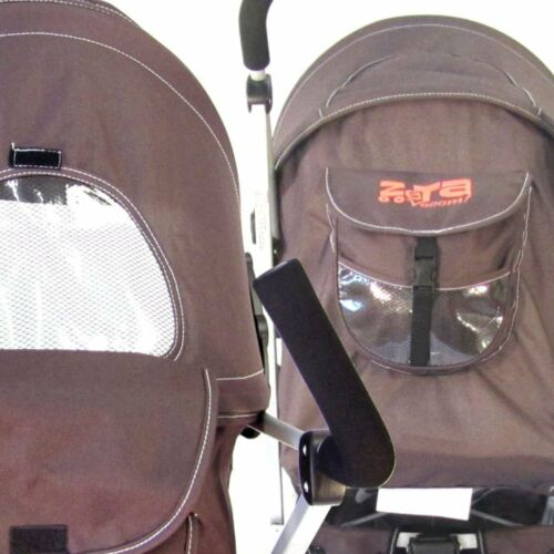Baby Stroller Zeta Vooom Brown Buggy Pushchair From Birth With Hot Chocolate