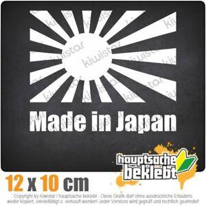 Made-In-Japan-Bandera-de-13-x-11-cm-JDM-decal-sticker-coche-blanco-discos-pegatinas