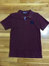 korean brand clride.n Burgundy Polo Waffle t shirt Women Medium Junior Large