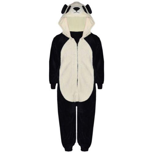 Enfants Filles Garçons Doux Moelleux Animal Loup One Piece Costume Halloween Tout en un