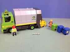 (K203) playmobil camion poubelle ref 3121 année 2000