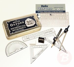 Oxford-Helix-Maths-Set-with-Storage-Tin