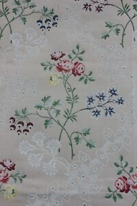 Vintage-French-Lampas-Brocade-Cotton-Sample-Fabric-c1930-40-In-Style-Of-18thC