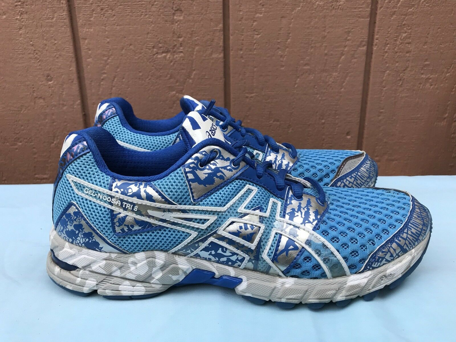 EUC ASICS Gel Noosa Tri 8 T356Q T356Q T356Q Athletic Running shoes Womens Size US 8 bluee A5 ed2061