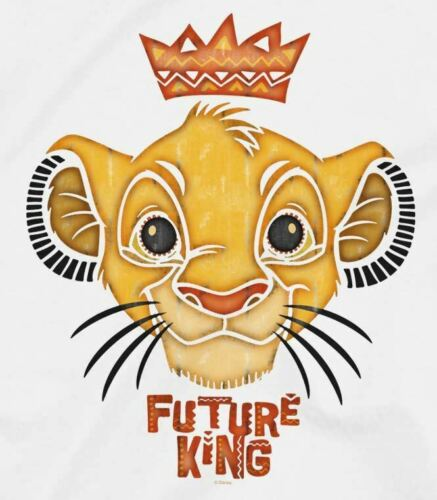 The Lion King Future King Children/'s Unisex White T-Shirt
