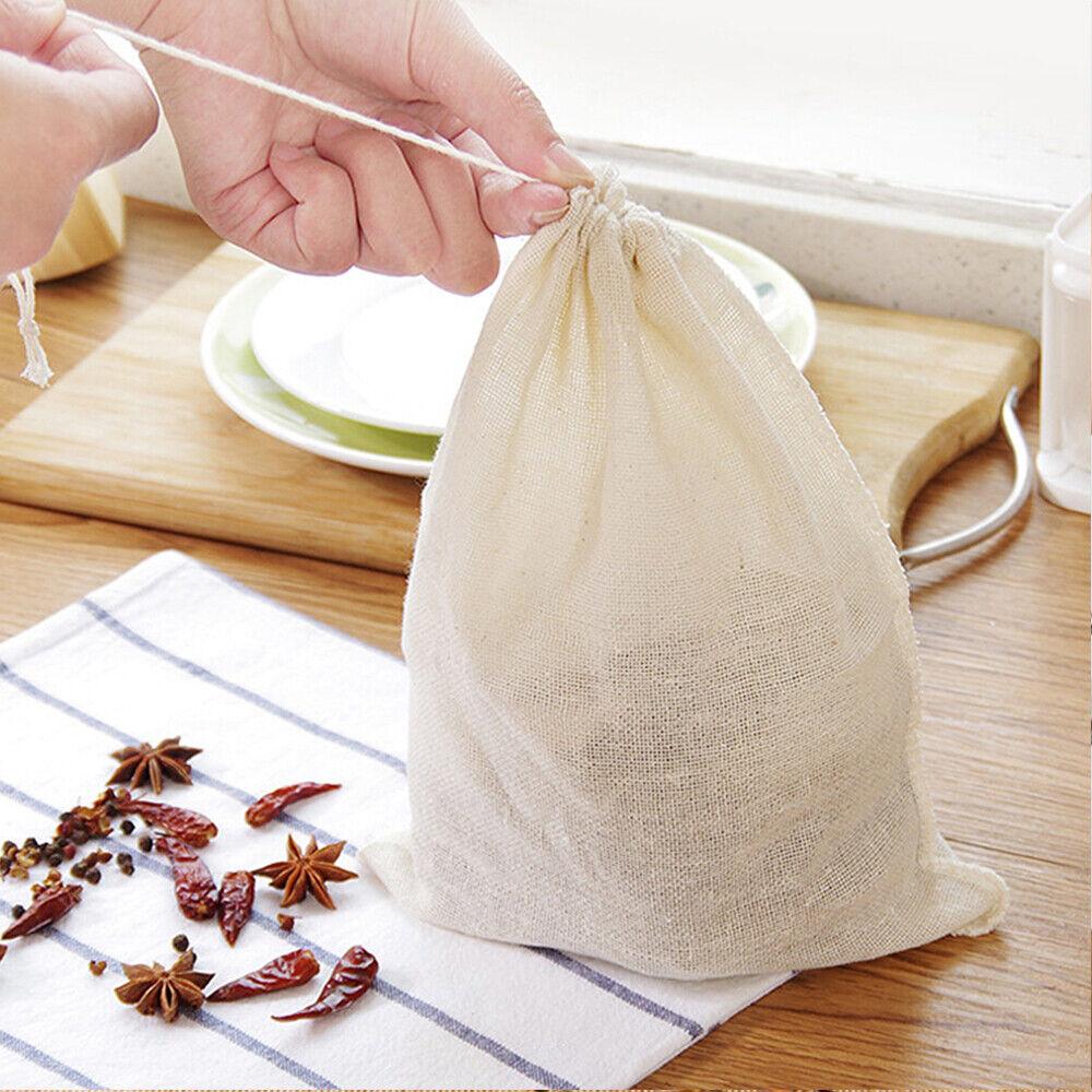 Tea Coffee Food Colander Cotton Filter Bag Nut Milk Wine Strainer Strainer Mesh
