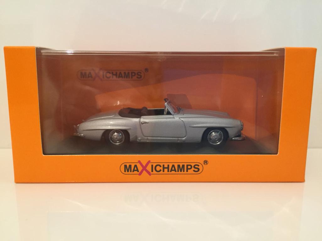 Minichamps 940033130 Mercedes Benz 190 Sl 1955 Argent -  Maxichamps Neuf 1 43  économisez jusqu'à 30-50%