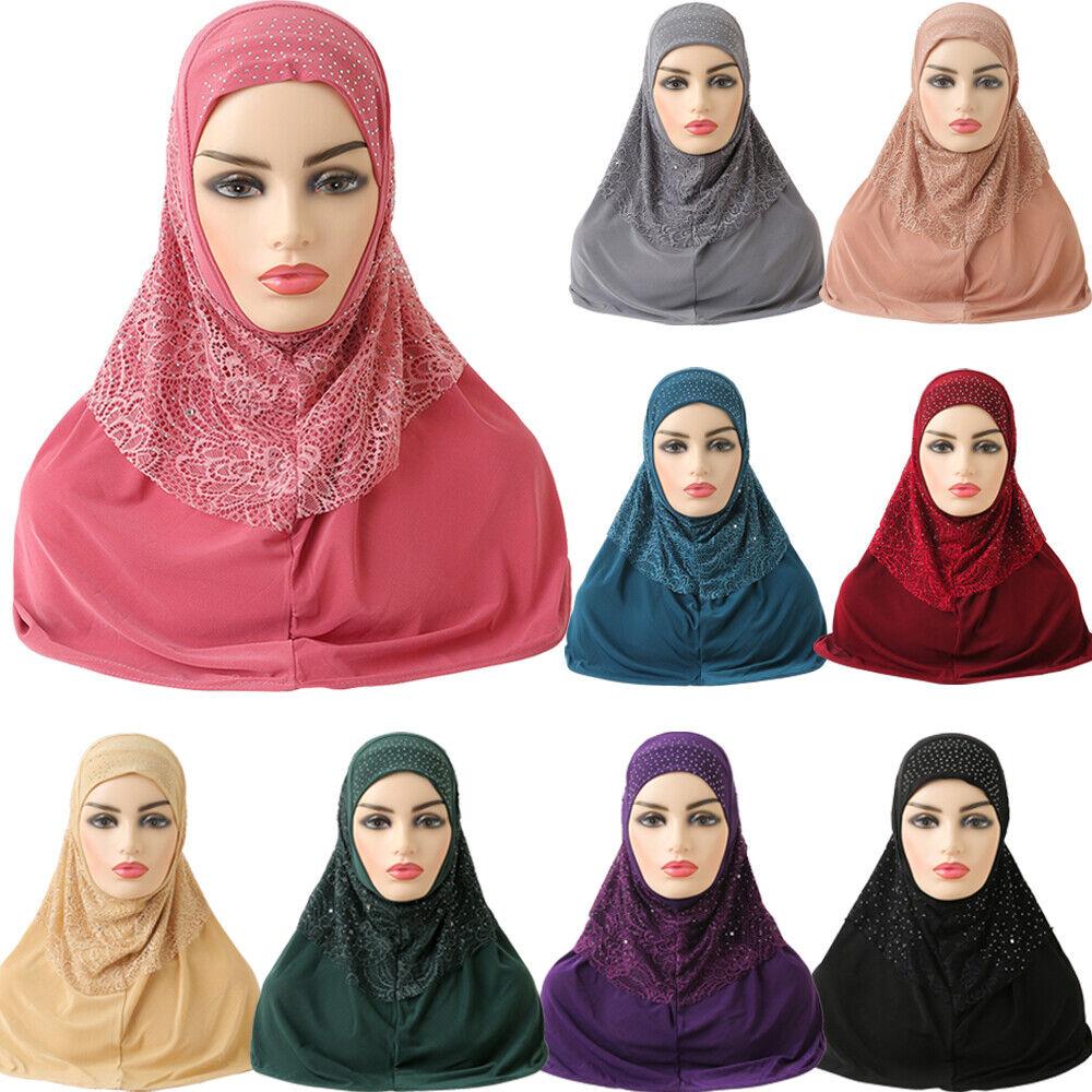 Ramadan Scarf One Piece Women Muslim Long Scarf Full Cover Head Wrap Shawl Islam