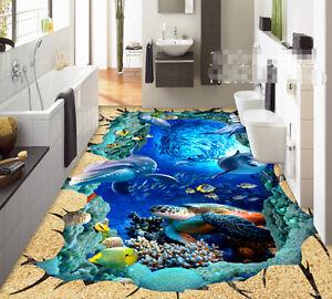 3d Beau Mer 4 Fond D'écran étage Peint En Autocollant Murale Plafond Chambre Art Qbzwpkjk-10114204-182448253