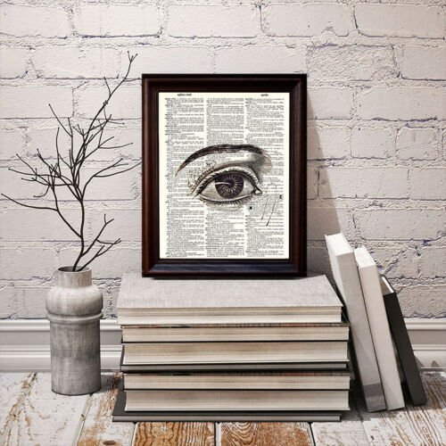 Human Eye Dictionary Art Print Printed On Authentic Vintage Dictionary Book