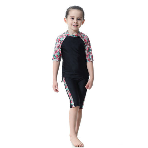 Kids Girls Swimwear Modest Islamic Muslim Swimsuit Beach Swimming  Arab Clothing