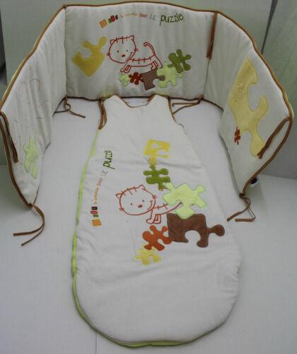 Nestchen  Kopfschutz Bettausstattung  BETT SET Strampelsack Baby Schlafsack