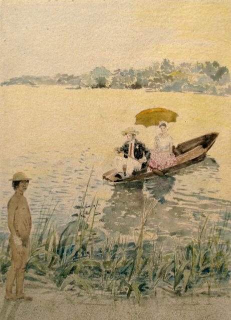 """""""Brautpaar fährt heim"""" 1877"""