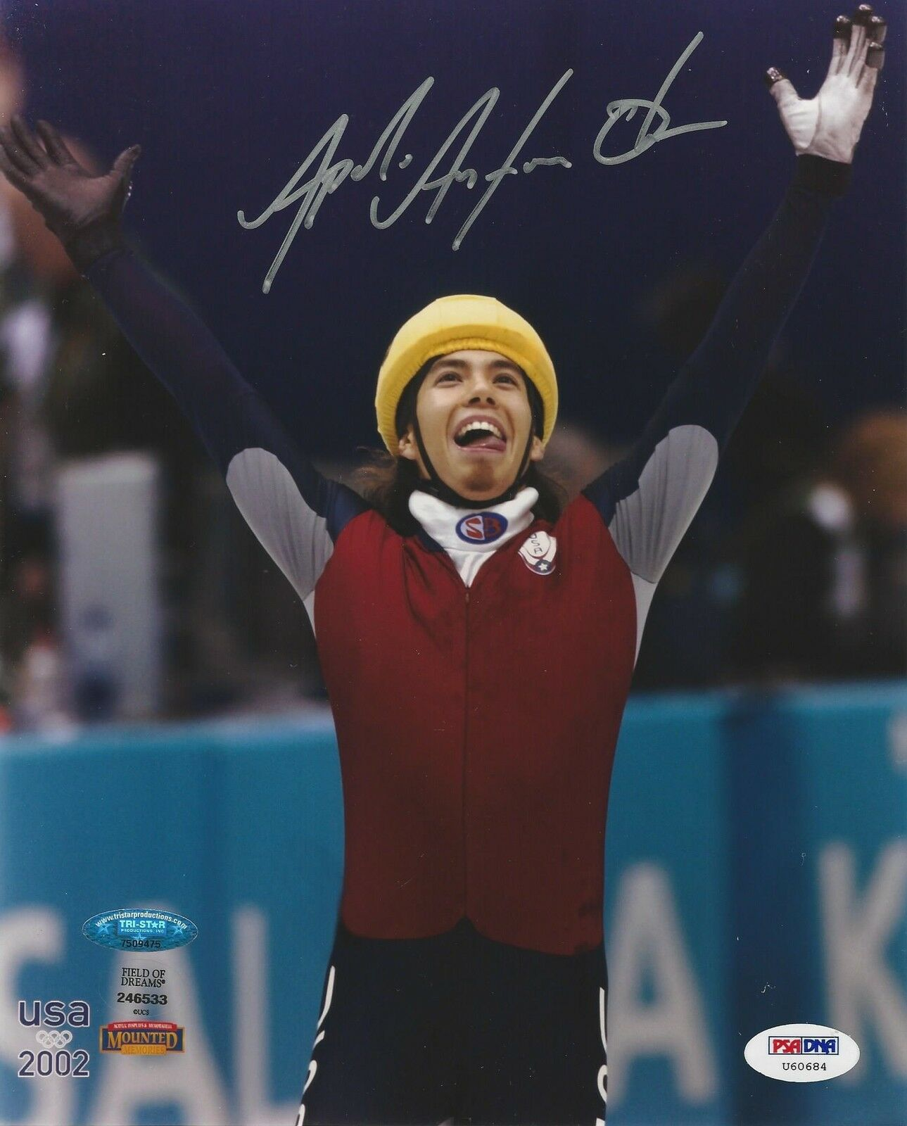 Apolo Ohno Speed Skater signed 8x10 photo PSA/DNA Certification # U60684