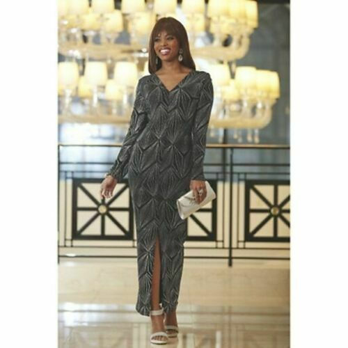 size XL Layla Black Glittery Dress wedding party formal by Ashro new
