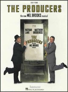 Brillant Les Producteurs Easy Piano Sheet Music Book Mel Brooks Musical-afficher Le Titre D'origine
