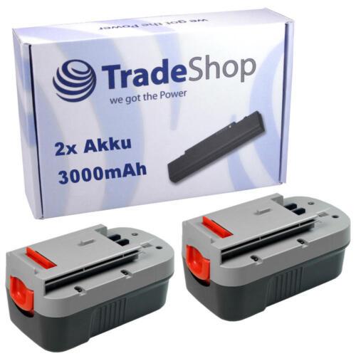 2x Batterie 18v 3000mah NiMH pour Black /& Decker gkc1817 glc610 gkc1817nh gkc1817p