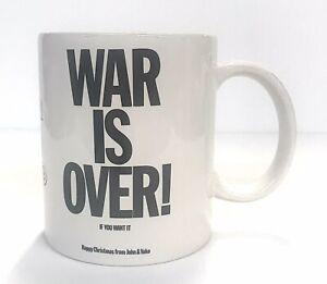 John Lennon Yoko Ono War Is Over! 12oz Coffee Mug Cup Happy Christmas 2009 NIB