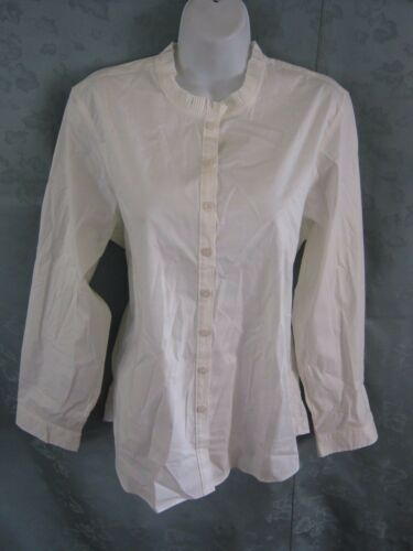Norm Thompson Ruffle Collar Blouse Size Large Off