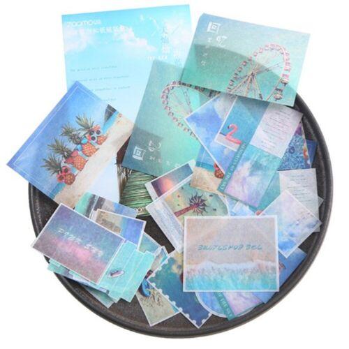 Reise Serie Sticker Aufkleber Set Zettel Basteln Scrapbook Tagebuch Alben Deko