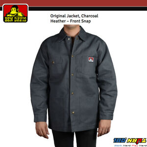 0d543d1e8 Details about NWT Ben Davis Mens Jacket Original Snap Front Blanket Lining  Charcoal Style #391