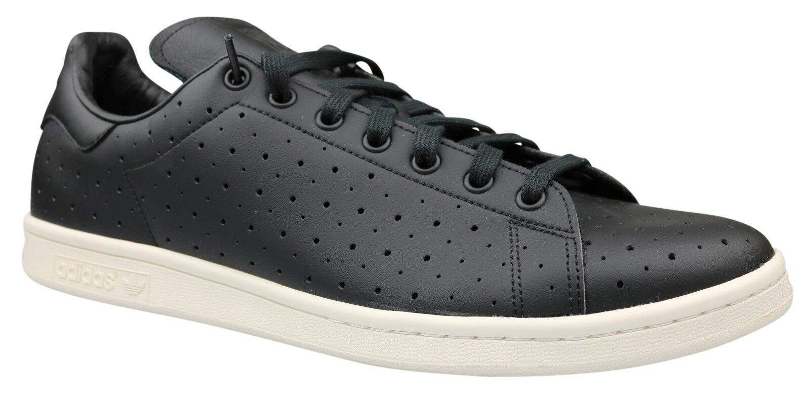 Adidas Stan Smith señores cortos de cuero zapatos negro talla 49 1 3 s75077 nuevo & OVP