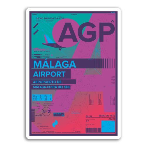 2 x 10cm Malaga Airport Vinyl Stickers Spain AGP Sticker Laptop Luggage #17169