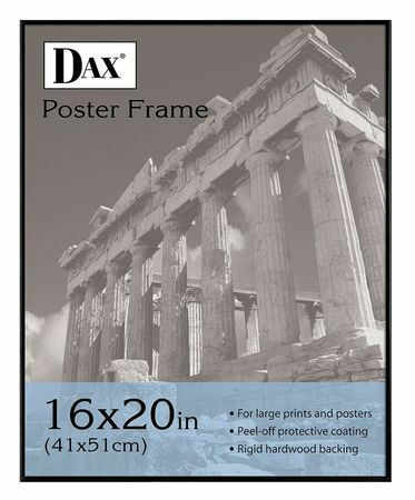DAX DAXN16016BT Poster Frame,20x16 In,Black
