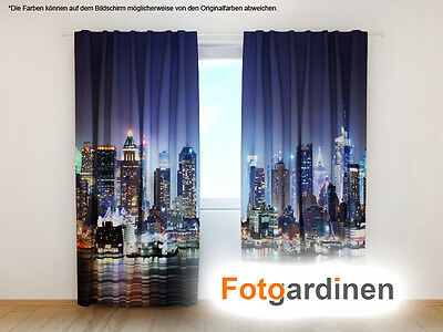 "Fotogardinen ""City"" Vorhang 3D Fotodruck, Fotovorhang, Maßanfertigung"