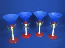 JIRI SUHAJEK Vintage Moser Czech Bohemian Set of 4 Large Martini Glasses
