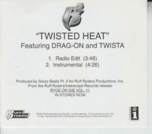 Details about Drag-On & Twista: Twisted Heat PROMO MUSIC AUDIO CD Ruff  Ryders Ryde Die 10221