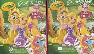 Crayola Disney Palace Pets 80 Mini Coloring Pages & 6 Mini ...