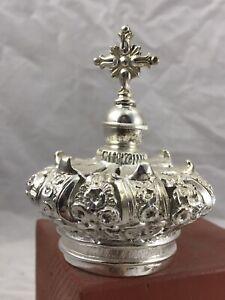 Corona imperiale Saint crown ottone Madonna rosario Maria statua  4,5 cm Krone
