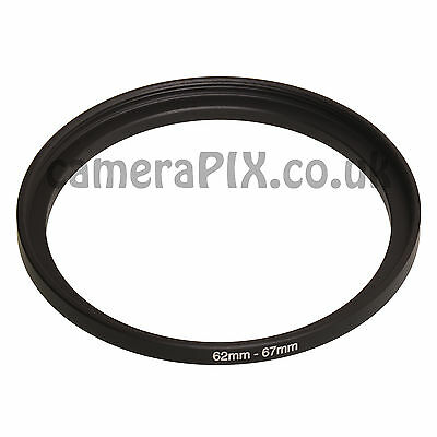 UK 55mm to 62mm 55-62 Stepping Step Up Filter Ring Adapter 55-62mm 55mm-62mm