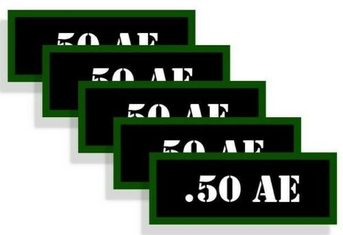 """Ammo Can Labels 50 AE Ammo Can Decals Action Express Ammo Can Stickers 5-pack 3/"""""""